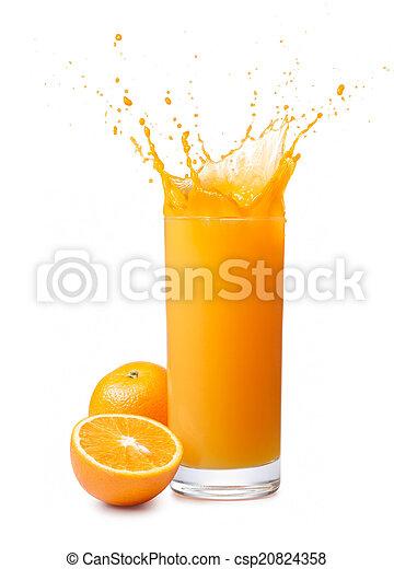 orange juice splash - csp20824358