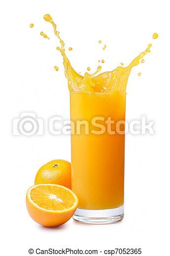 orange juice splash - csp7052365
