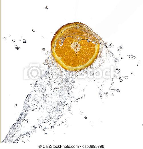 Orange juice splashing - csp8995798