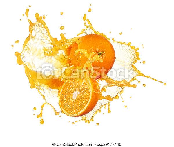 orange juice splashing - csp29177440