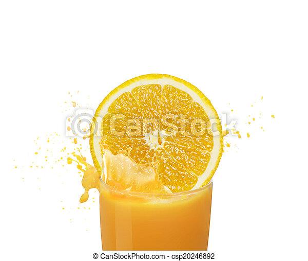 Orange juice splashing - csp20246892