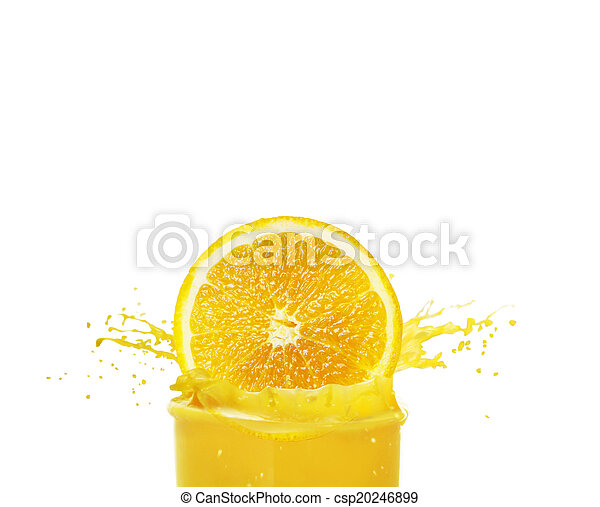 Orange juice splashing - csp20246899