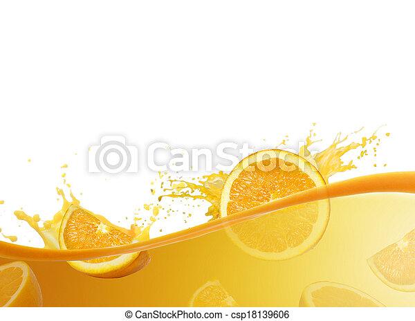 Orange juice splashing - csp18139606