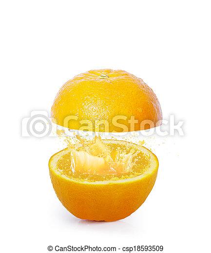Orange juice splashing - csp18593509