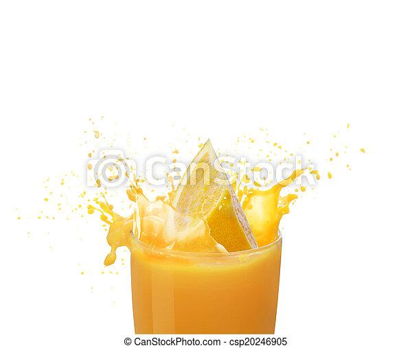 Orange juice splashing - csp20246905