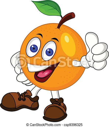 orange, karikatur, zeichen - csp9396325