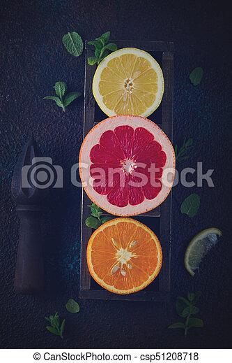 Orange, lemon and grapefruit - csp51208718