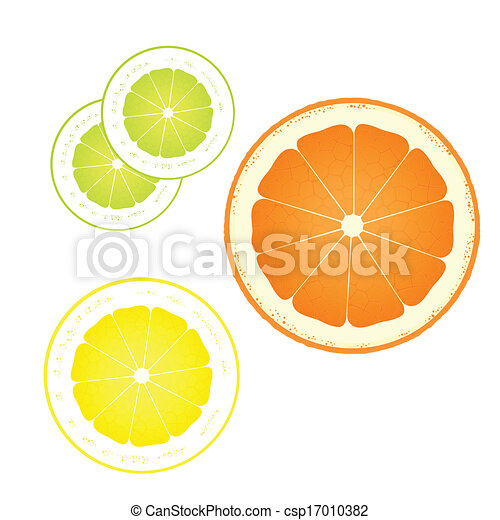 Orange, lemon and lime abstract background - csp17010382