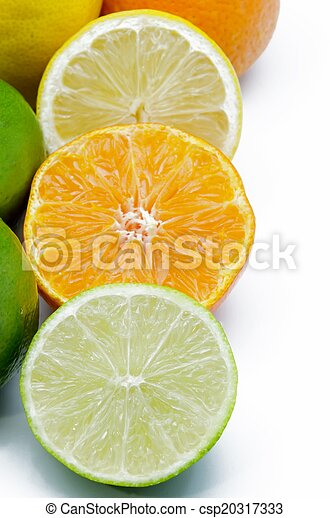 Orange, lemon and lime - csp20317333