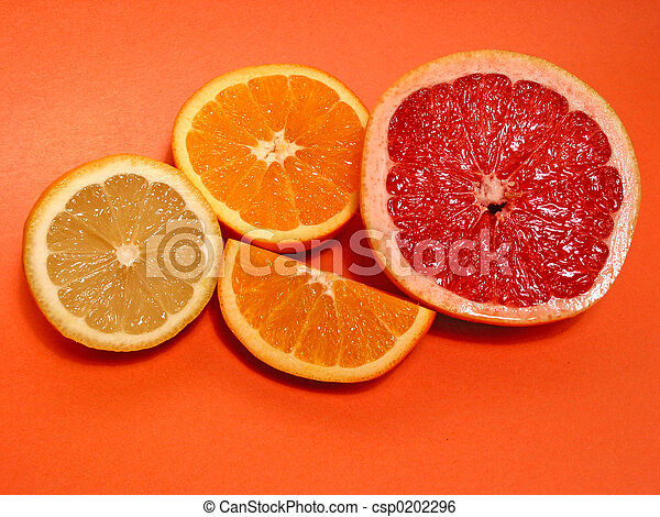 Orange, lemon, grapefruit - csp0202296