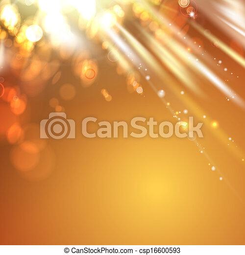 orange licht, abstrakt, hintergrund. - csp16600593