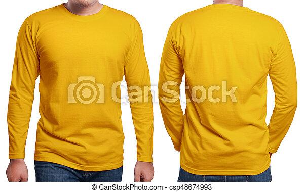 orange long sleeved shirt design template orange long sleeved t
