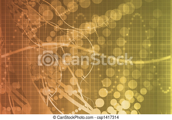Orange Medical Science Futuristic Technology Abstract - csp1417314