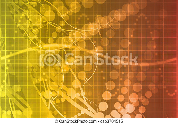 Orange Medical Science Futuristic Technology Abstract - csp3704515