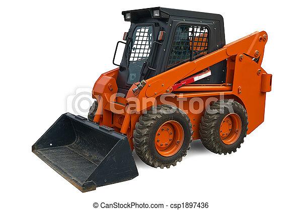 Prächtig Orange, mini, rad, bagger. Rad, mini, ausschnitt, bagger, aus #SA_36