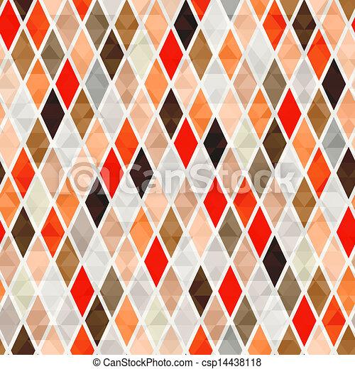 orange, modèle, seamless, fond - csp14438118