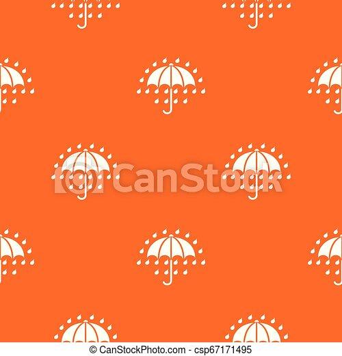orange, modèle, vecteur, parapluie - csp67171495