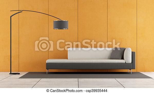 Orange modern lounge