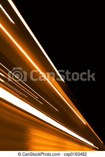 orange, mouvement - csp0163482