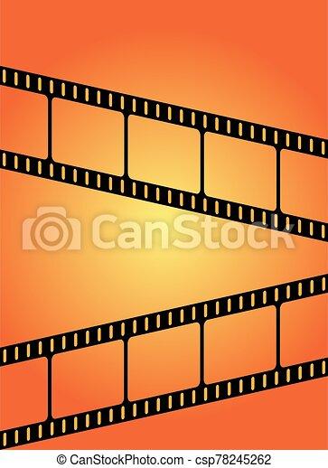Orange Movie Film Background - csp78245262
