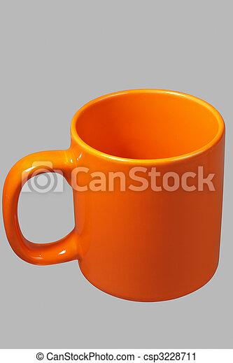 Orange mug two - csp3228711