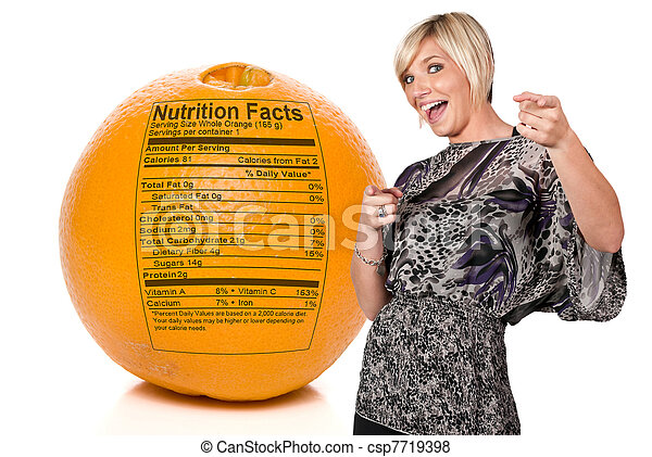 Orange Nutrition Facts - csp7719398
