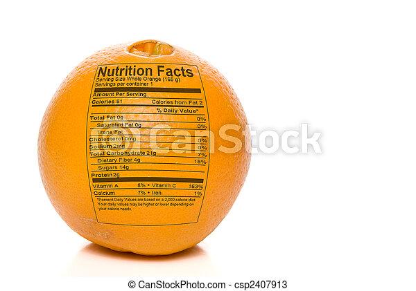 Orange Nutrition Facts - csp2407913