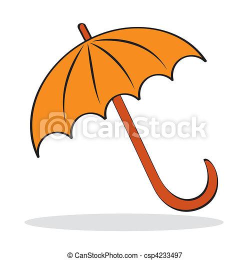 orange, ombre, parapluie, gris - csp4233497