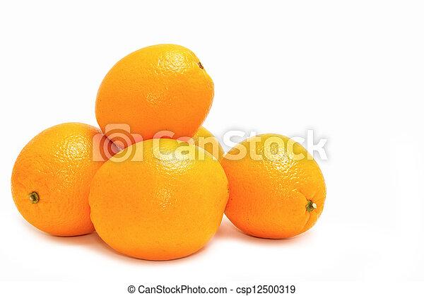 orange on white background - csp12500319