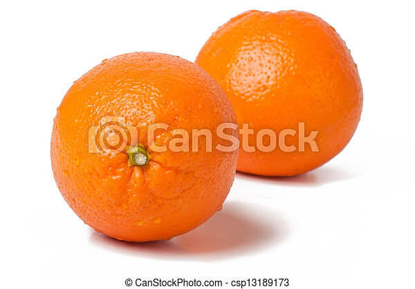 orange on white background - csp13189173