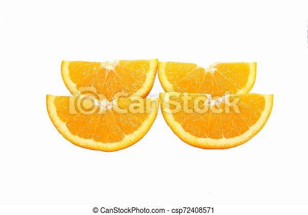 orange on white background - csp72408571