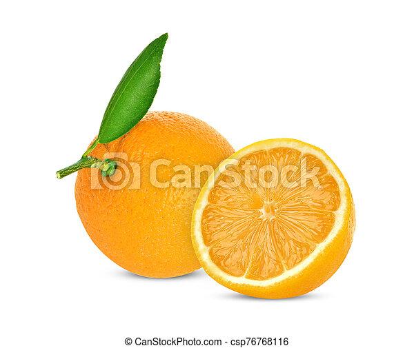 Orange on white background - csp76768116