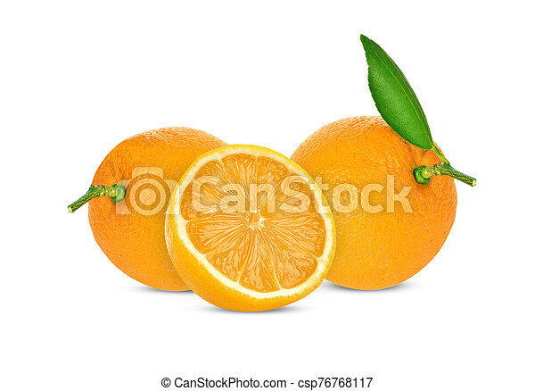Orange on white background - csp76768117