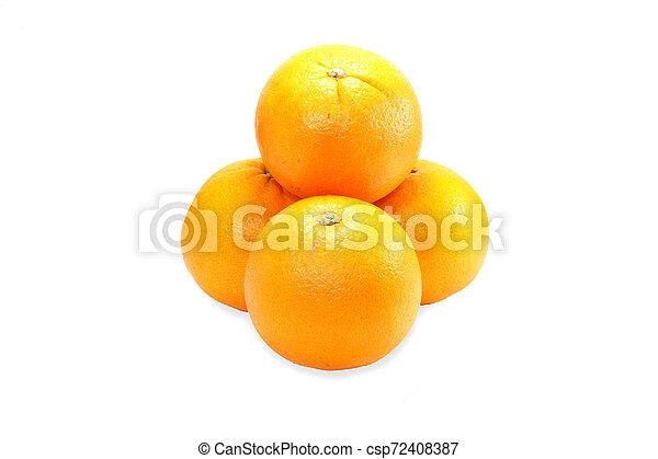 orange on white background - csp72408387