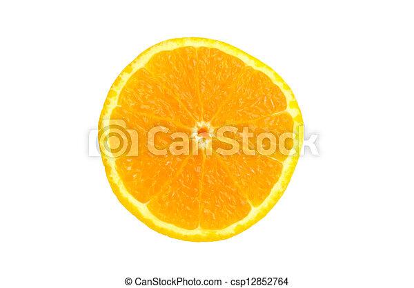 orange on white background - csp12852764