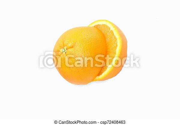 orange on white background - csp72408463