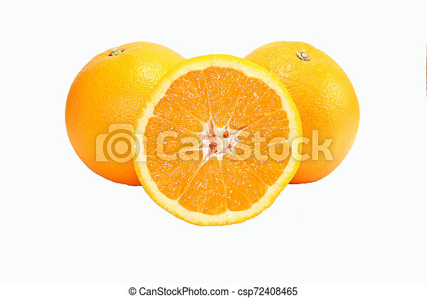 orange on white background - csp72408465