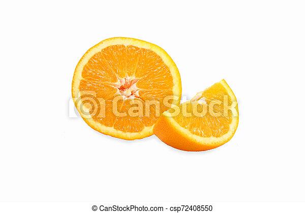 orange on white background - csp72408550