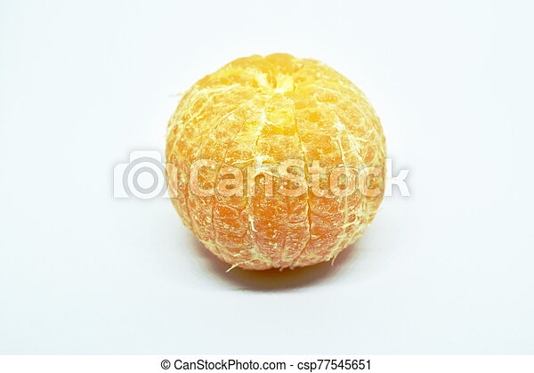 orange on white background - csp77545651