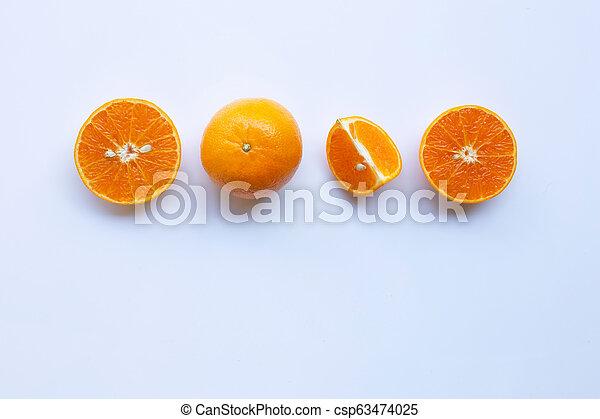 Orange on white background - csp63474025