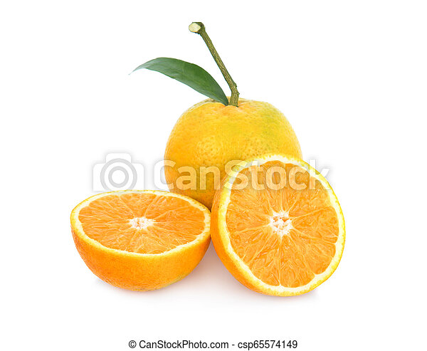 Orange on white background - csp65574149