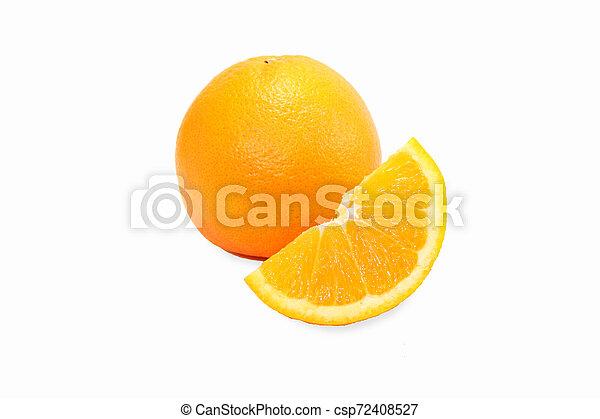orange on white background - csp72408527