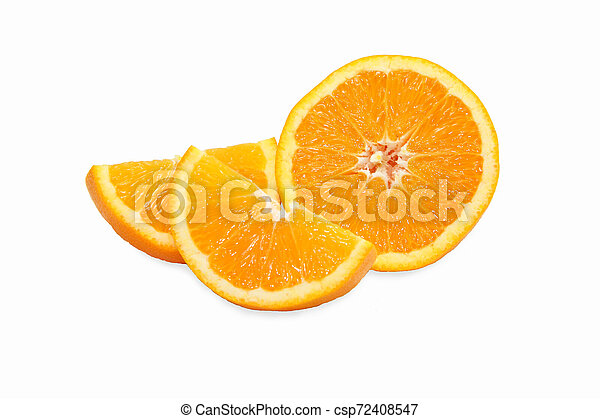 orange on white background - csp72408547