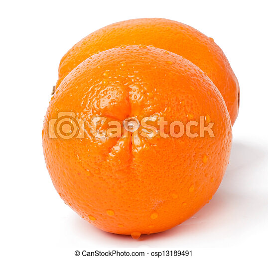 orange on white background - csp13189491