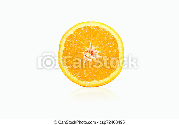 orange on white background - csp72408495