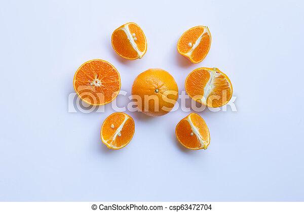 Orange on white background - csp63472704
