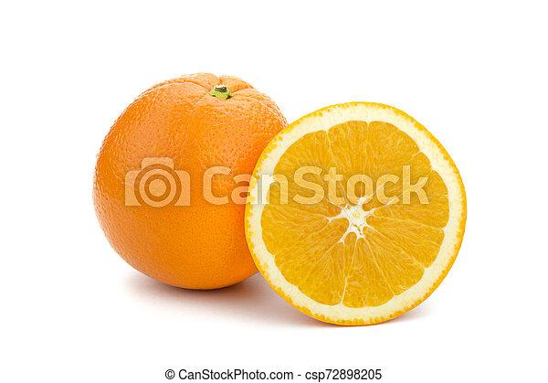 Orange on white background - csp72898205