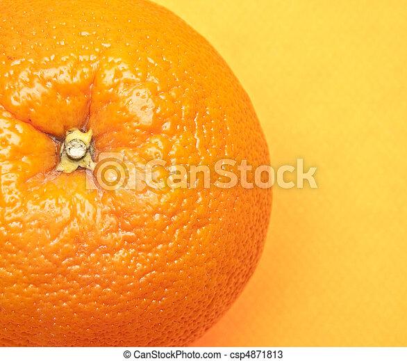 Orange on Yellow - csp4871813
