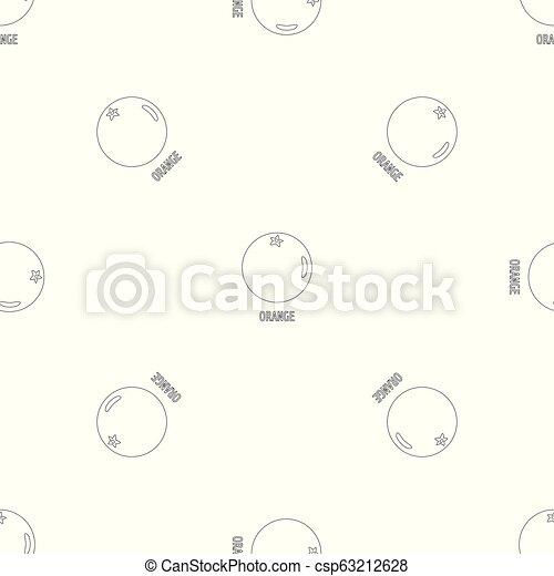 Orange pattern seamless vector - csp63212628