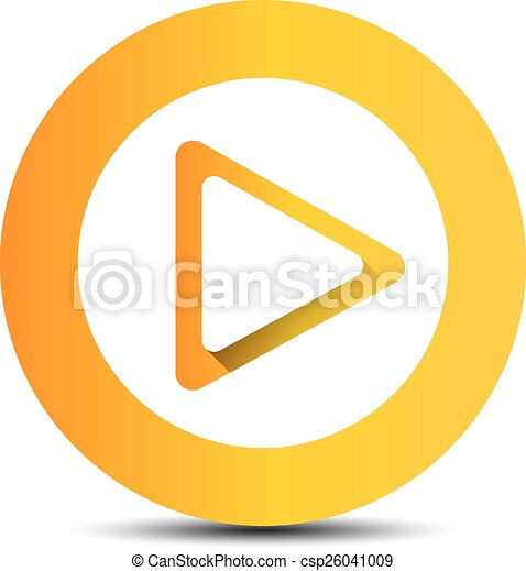 orange play button vector illustration glossy orange play rh canstockphoto co uk play button vector illustrator play button vector file
